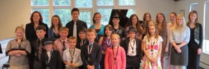 2012 Scholarship Recipients after the April 22 Recital (after the performances, hence the smiles)